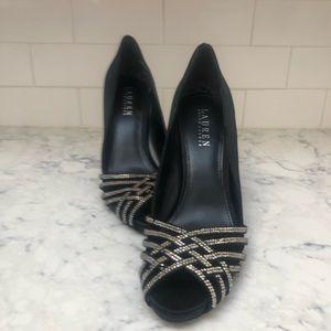 Ralph Lauren Satin High Heels
